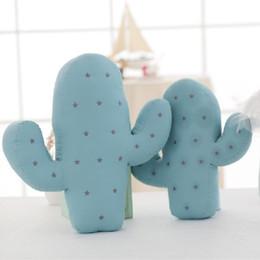 bonecas de desenhos animados de fotos Desconto Atacado- 2 Tamanho Encantador Dos Desenhos Animados Cactus Forma Almofada Travesseiro Crianças Bed Room Decoração Calma Sleep Dolls Adereços Foto Brinquedos Presente Para O Menino