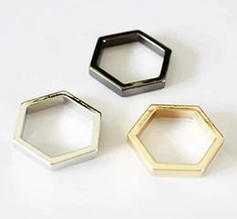 Wholesale Grace Party - Wholesale- Timlee R145 Free shipping Grace Fashion Hexagon Simple Finger Rings,Fashion Jewelry Wholesale