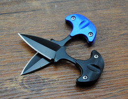 Wholesale Karambit Tactical Knives - Newest Cold steel style URBAN PAL 43LS small Fixed blade knife Fox karambit pocket knife tactical knife with K sheath and necklace B283L