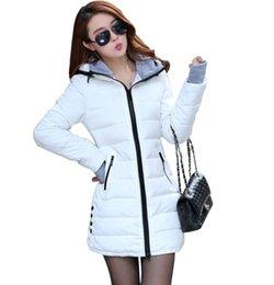 le signore all'ingrosso giù le giacche Sconti All'ingrosso-Wadded Giacche 2017 femminile nuove donne inverno piumino cotone Slim donne giù Parka Ladies Coat plus size M-XXXL CC276