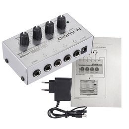 Wholesale Compact Stereos - HA400 Ultra-compact 4 Channels Mini Audio Stereo Headphone Amplifier with Power Adapter