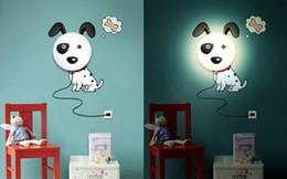 Appliques murales en Ligne-Tenture murale, lampe murale mode créatif personnalité dessin animé scène lampe de papier peint, convient à la chambre à coucher, étude, chambre des enfants