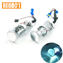 Wholesale H4 Bi Xenon Projector - PAIR bi-xenon lens H4 Bi Xenon Car HID Projector lens car hid projector lens headlight Headlamp for universal car truck H4 Hi low 43k 6k 8k