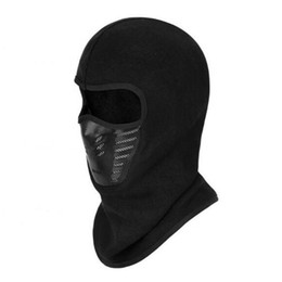 Wholesale Ninja Gold - Wholesale- Outdoor Riding Skiing Mask Face Cover Ninja Style Head Cap Warm Thickening Fleece Mask with Filtering Function Drop Shipping