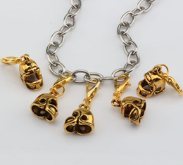 Wholesale Antique Jewelry Football - Hot ! 100pcs Antique Gold 3D Small Football Helmet Charms With lobster clasp Fit Charm Bracelet DIY Jewelry 12x27mm