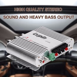 Wholesale Motor Amplifier - Mini HiFi Sliver 12V 20W CD MP3 Radio Car Auto Motor Boat Home Audio Stereo Bass Speaker AMPLIFIER BOOSTRER Verstarker Vehicle