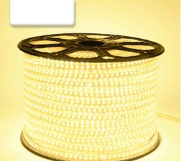 Wholesale Waterproof Outdoor Rope Lights - Outdoor Decorative LED Strip Lights Waterproof 5630 SMD LED Light Strips 220V Flexible Round Rope LED Christmas Lights 50M White Warm White