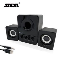 2019 escritorio de alta fidelidad Al por mayor- Usb Multimedia Stereo Computer Speakers 2.1 para PC Portátil de escritorio, altavoz externo Bass Speaker 3.5mm para Smartphone iPad escritorio de alta fidelidad baratos