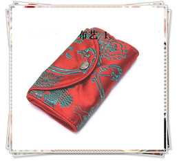 Wholesale Wholesale Wine Totes - Fashion Fold Reusable Supermarkets Shopping bag Chinese Silk brocade tote bags 5pcs lot mix color free shipping