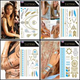 dio flash Sconti 160 styels Nuovo Metallic Gold Body Art Tatuaggio Temporaneo Sexy Non Tossico Impermeabile Tatuaggi Flash Sticker Bling Bling Flash Tats Spedizione gratuita