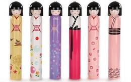 Wholesale Kokeshi Folding Umbrella - 50pcs lot Cut Kokeshi Doll Umbrella Fashion Hot style Cartoon Folding Umbrella for Rain Factory Price DHL Free