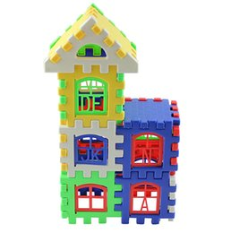 Wholesale Toy Blocks Letters - 24 Pcs a Pack Children Kids Letters Learning Toy Bricks House Building Blocks