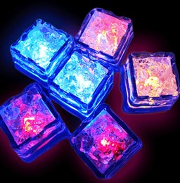 Wholesale Multi Flashing Ice Cubes Lights - Cheapest Christmas Decoration Flash Ice Cube WaterActived Flash Led Light Put Into Water Drink Flash Automatically for Party Wedding Bars