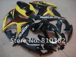 Wholesale Gsxr Black Yellow - NEW fairing kit for SUZUKI 2006 2007 GSXR 600 GSXR 750 GSXR600 750 06-07 BLACK YELLOW GSXR600 750 06 07