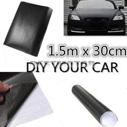 Wholesale Car Wrapping Matt - 150x30cm Matt Matte Black Car Auto Body Sticker Decal Self Adhesive Wrapping Vinyl Wrap Sheet Film order<$15 no tracking