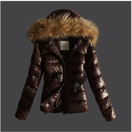 Wholesale Korean Fur Hooded Jacket - Winter Raccoon Faux Fur Parka Korean Fashion Women Duck Down Jacket Short Slim Warm Winter Parka Coats