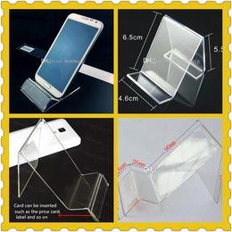 Telefone de dv on-line-Telefone celular acrílico MP3 cigarro DV GPS prateleira de exibição Titulares de suportes de exibição de telefone celular Titular Stands no bom preço por atacado