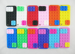 Wholesale Building Blocks Cover - 3D Lego Toy Brick Building Block Soft Rubber Silicone Case Back Cover for iPod Touch 5 5G 5th
