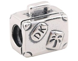 Wholesale Free Pandora Bracelets - 100% Sterling Silver Charms 925 Ale Trunk Charms for Pandora Bracelets Trip DIY Beads Accessories Free Shipping