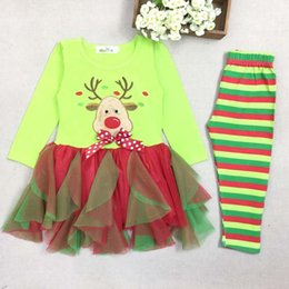 Wholesale Childrens Special Occasion Clothing - Christmas Dress Girl Dress Children Christmas Clothes Kids Christmas Clothing 2015 Autumn Winter Ruffle Childrens Special Occasions
