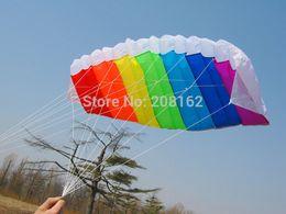 Forma di aquilone online-Aquilone Rainbow Kite Dual Line Control Aquilone con due impugnature per principianti Outdoor Sports (ordine mix 10 usd)