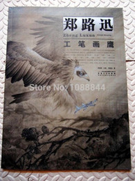 Wholesale Tattoo Sketches Book - Wholesale-Free shipping Hawk Eagle Falcon Chinese Painting Tattoo sketch Flash Reference China Book B