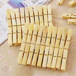 Wholesale Decor Clips - Craft Clips Home Decor Clothes Pegs Multi Function Mini Natural Wooden Clothespin Durable 1 05ld C R