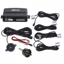 Wholesale Sensor System Sound Alert - Car Parking Backup Reverse Radar Kit 4LED Parking Sensors Car Parking Sensor System K382 Sound Alert