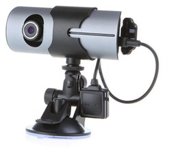 "Wholesale Dual Lens Dvr Gps Logger - Dual Lens Front Rear Camera Car DVR Vehicle Dash Dashboard GPS logger Data Recorder 2.7"" K487"