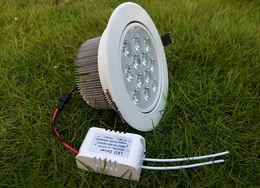 2019 luces de techo para tiendas 12X1W Techo LED Focos de iluminación Iluminación AC 85-265V Alta potencia Chip brillante 12W Focos empotrados Lámparas Supermercado Tienda Bombillas decorativas