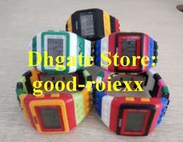 Wholesale Gel Led Watches - Unisex Luxury LED Light Digital Watch Dual Electronic Colorful Candy Gel Jelly Resin Dive Mens Women's Shhors Stamps Ladys Watches