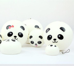 Wholesale Bread Prices - 2015 new 10pcs lot hot sell,Jumbo Squishy Buns Bread Charms, Panda Shape Squishies Cell Phone Straps, Wholesale Price Q0616