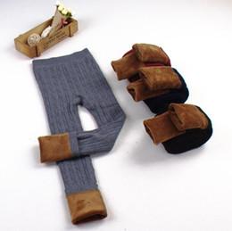 Wholesale Girls Thick Leggings - Kids Plus Thick Baby Leggings Tights Pants Christmas Gifts Winter Baby Girls Girls Elastic Warm Legging Girl Trousers KKA3587