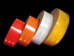 Wholesale Reflective Safety Tape - 3 Meters X 5CM Car Reflective Sticker Safety Warning Cover Accessories Conspicuity Roll Tape Film Motorcycle Bike sticker