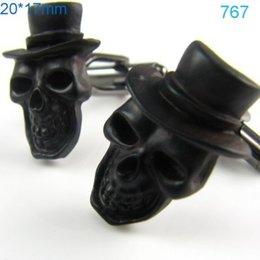 Wholesale Designer Cuff Links - Black Skull Cufflinks Cuff Links Designer Brand Mens Accessory Set cf767