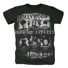 футболка оптом Скидка Оптовая продажа-Бесплатная доставка Голливуд нежить целевой хэви-метал рэп-метал рэп рок черный 100% хлопок футболки