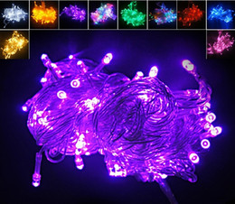 Wholesale Holiday Window Lights - Christmas Xmas 10 meters 100LED 100 LED String lights flash window curtain Light