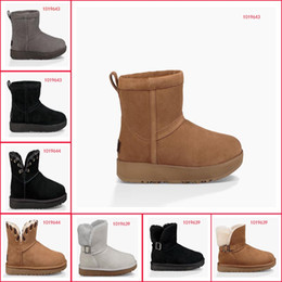 Wholesale Womens Winter Boots Online - womens boots classic short chestnut black high quality women snow boot woman ladies winter designer leather online Outdoor shoes with box