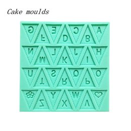 Wholesale Lace Molds - Wholesale- Letter Flag Lace Silicone Cake Mold Decorating Baking Pastry Chocolate Mould Cooking Tool Molds Fashion Design Hot Sale