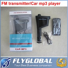 Wholesale Radio Controlled Hummer - Car Kit MP3 Player Audio Wireless FM Transmitter Modulator USB SD MMC LCD 4 iPhone control rty Car mp3 player+ship by DHL