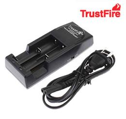 Wholesale Charger Lithium - Free FEDEX DHL 40PCS TrustFire 001 TR001 Lithium Battery Charger for 14500 16340 18500 18650 Battery EU US Plug(Black Color)
