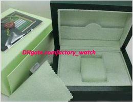 cajas de madera para hombres Rebajas Cajas de reloj de lujo para la caja de reloj Verde Original de madera interior de la mujer para hombre Relojes Cajas de papel