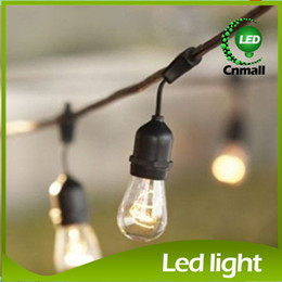 Wholesale Outdoor Patio String - New 15pcs Bulb String Vintage Style Outdoor String Commercial Patio String Light Incandescent 11S14 Bulbs 48-Feet 15 Lights E27 Base Light