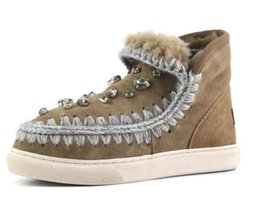Wholesale Suede Style Boots - 2017 Eskimo 2017 the New Winter Style Snow Ankle Boots 100% Fur Material 2.5cm Platform with Rhinestone Rubber Sole Shoes For Women