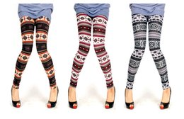 Wholesale Ladies Christmas Leggings - 2014 New Bestselling Women's snowflake pants Christmas Snow Leggings Lady Autumn Winter free shippig
