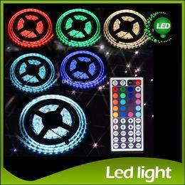 Wholesale 24 Leds - RGB LED Strips Light Waterproof 5050 5M 300 Leds Flexible Led Strips Light + 24 44 key Remote Controller 12V 5A Power Supply