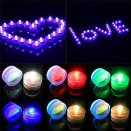 Wholesale Submersible Led Decor Tea Light - LED Submersible Candle Light Waterproof Wedding Party Tea Lights Home Decor Floral Lights For Christmas Romantic Gifts Confession Candles