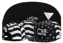 Wholesale Hot Problems - HOT!! F**KIN' PROBLEMS black white Stripe CAYLER & SON Hats Men Snapback Cap Cheap Cayler and Sons snapbacks Sports Caps Fashion Caps TY