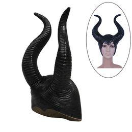 Atacado-2015 na moda Genuíno latex maleficent chifres adulto mulheres traje do partido do dia das bruxas jolie cosplay headpiece chapéu 1 PCS de Fornecedores de traje tigger