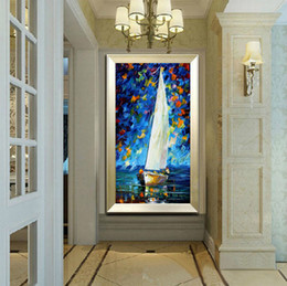 Wholesale Art Paint Knife - 100% Pure Hand Painted Modern Living Room Study Walkway Home Decoration Art Oil Painting Thick Oil Color Canvas Knife Painting JL058